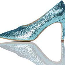 zapatos de moda en los años 80 tacón con brillantina